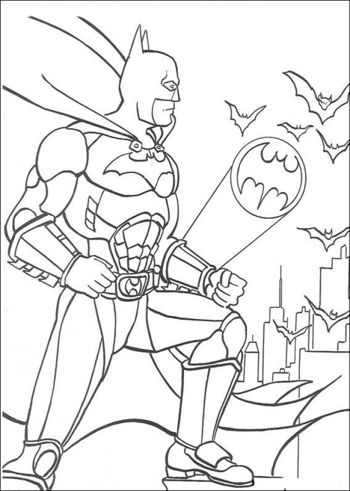 Batman Coloring Pages Free Printable   606709
