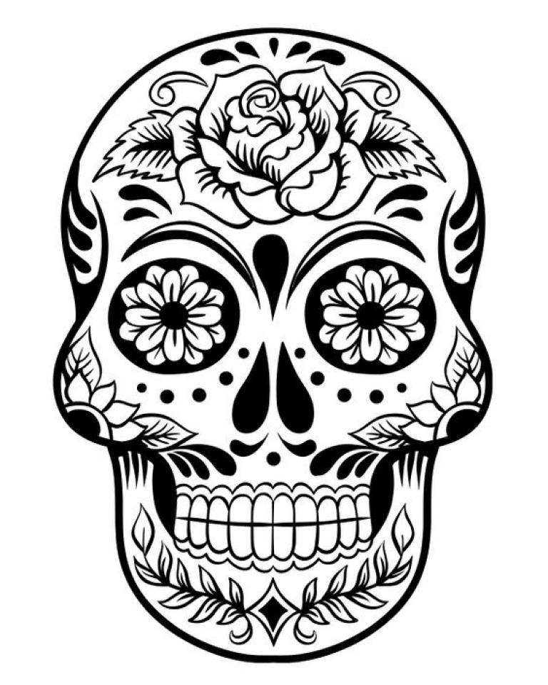 Dia De Los Muertos Coloring Pages Free Printable   q8ix6