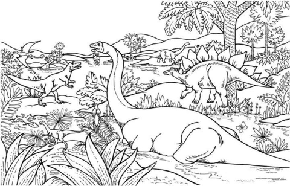This is an image of Free Printable Dinosaur Coloring Pages intended for traceable