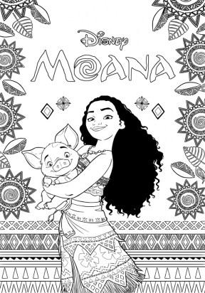 Disney Moana Coloring Pages PL67Q