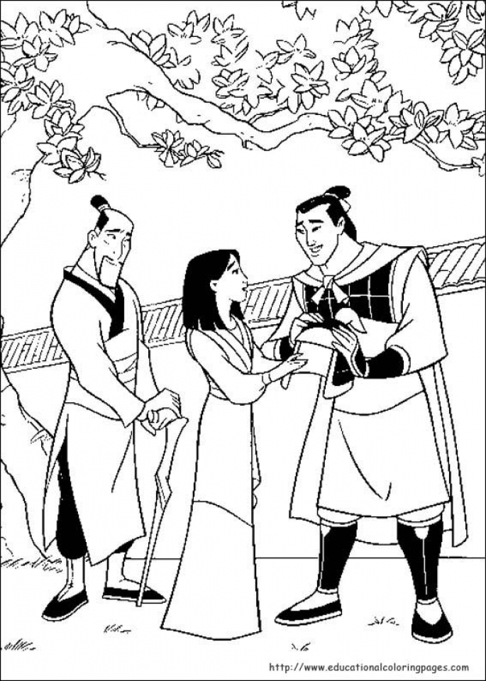 Disney Princess Mulan Coloring Pages   683en