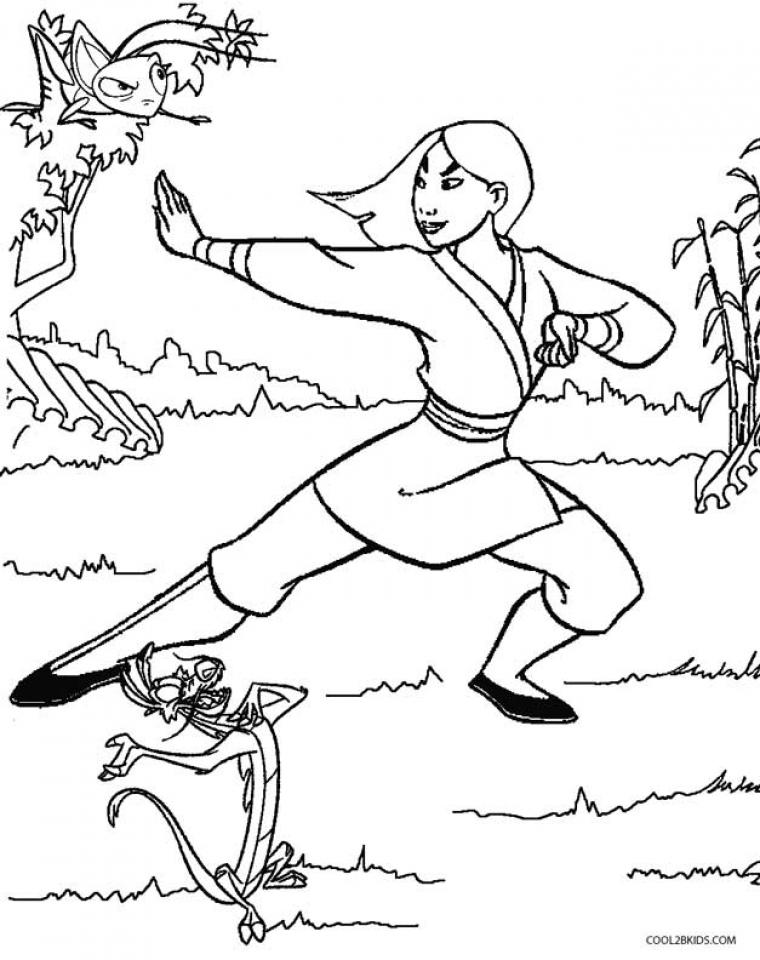 Disney Princess Mulan Coloring Pages   gv786