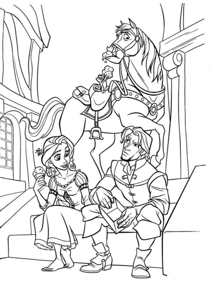 Gambar Rapunzel Coloring Pages To Print Jpeg Png Gif Best Pictures