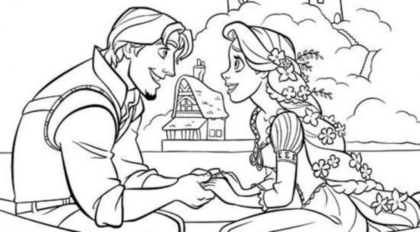 Disney Princess Rapunzel Coloring Pages ZJRIB