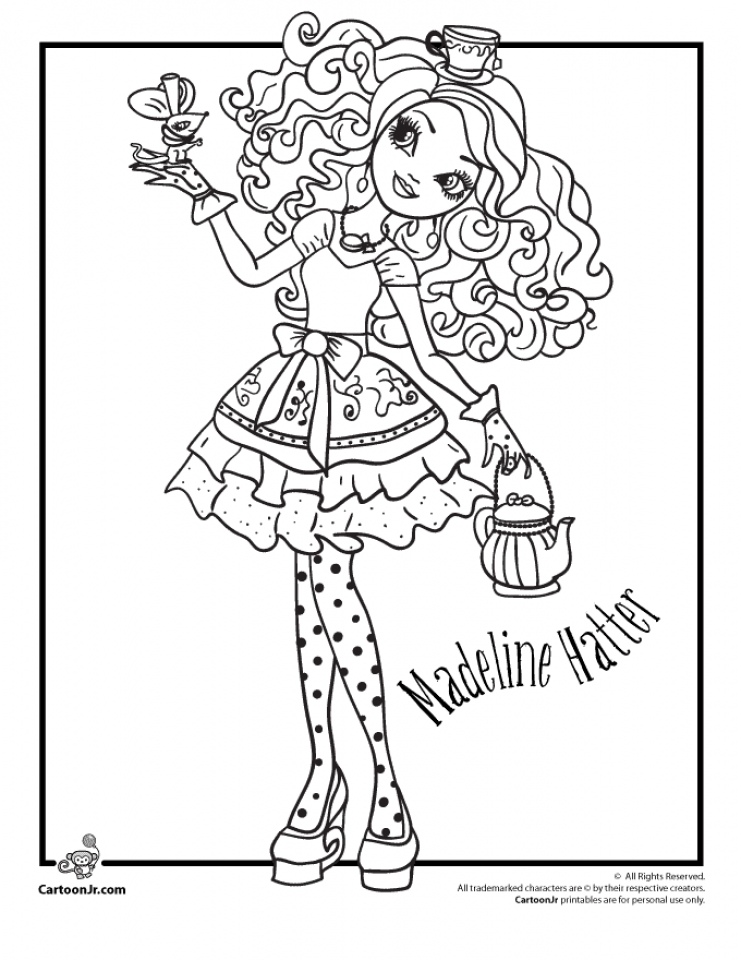 Get This Ever After High Coloring Pages for Girls dpp67