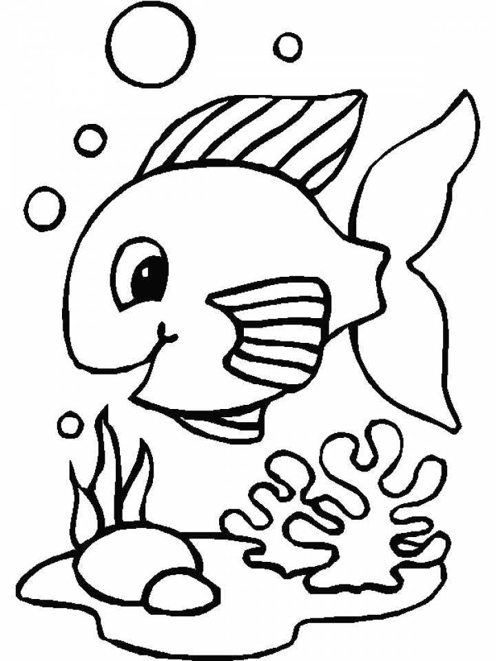Coloring Pages Fishing Porcupine Coloring Page Baby Fish Coloring ... | 960x720