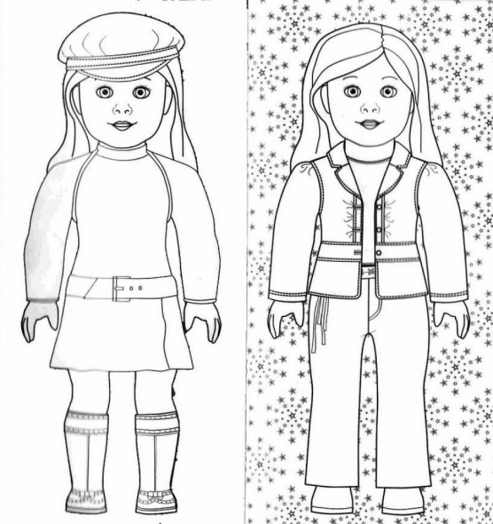 Free American Girl Coloring Pages 72ii17