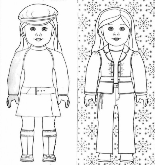 Free American Girl Coloring Pages 9tf1q