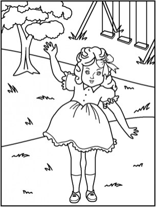 Free American Girl Coloring Pages to Print v5qom