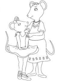 Free Angelina Ballerina Coloring Pages 623673