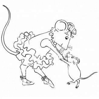 Free Angelina Ballerina Coloring Pages to Print 105373