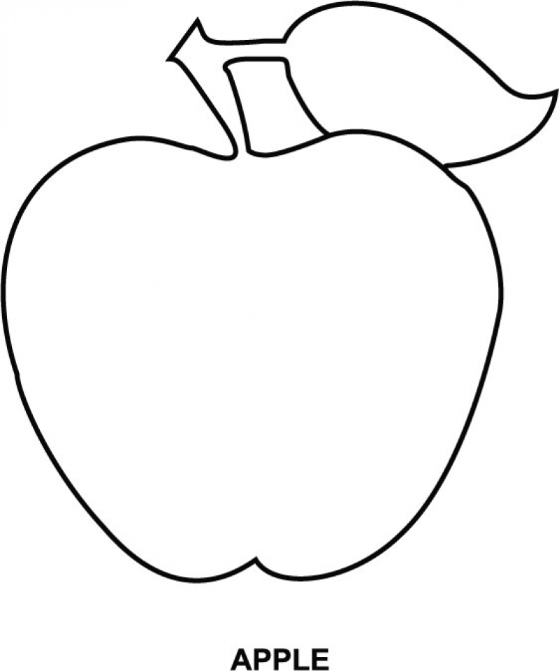 Free Apple Coloring Pages to Print   v5qom