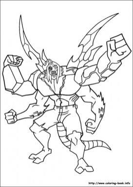 Free Ben 10 Coloring Pages to Print rk86j