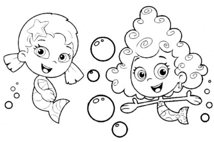 Free Bubble Guppies Coloring Pages to Print 754981