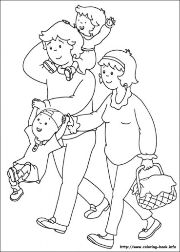 Free Caillou Coloring Pages 18fg29