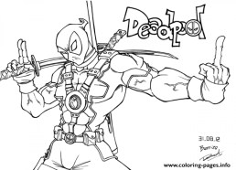 Free Deadpool Coloring Pages to Print 194512