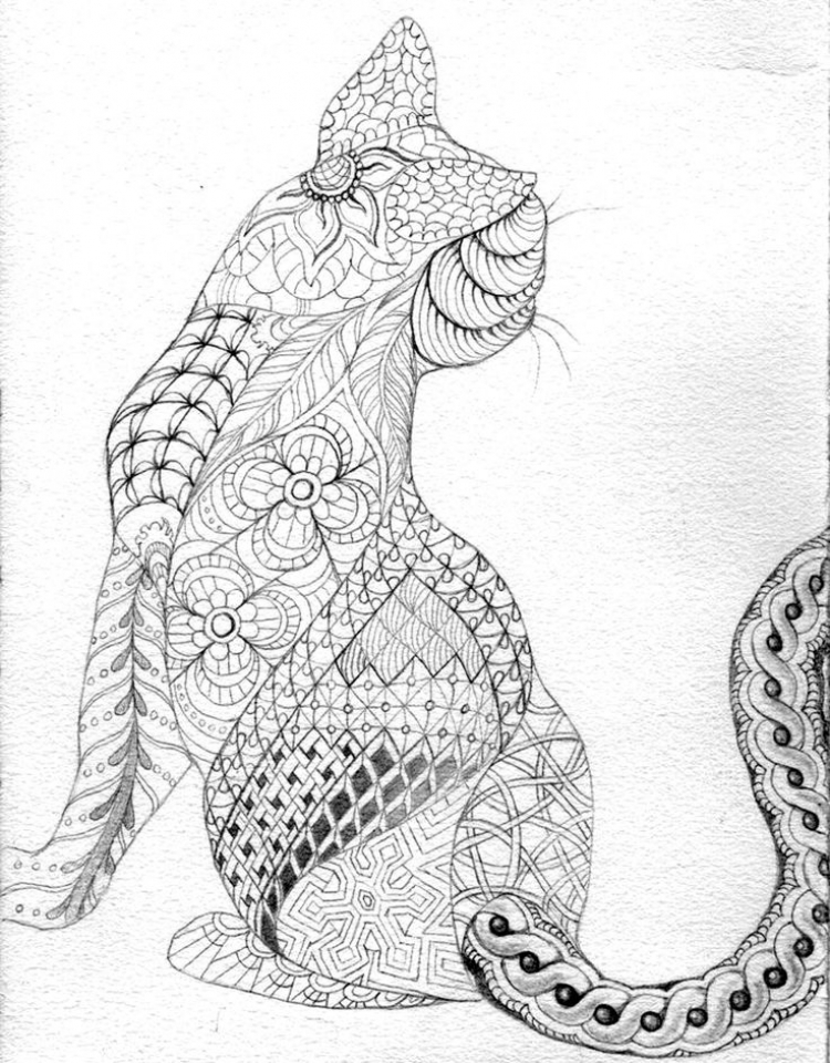 Free Difficult Animals Coloring Pages for Grown Ups   FF42