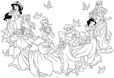 Free Disney Princess Coloring Pages 706104