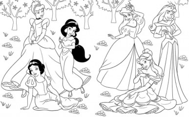 Free Disney Princess Coloring Pages to Print 754988