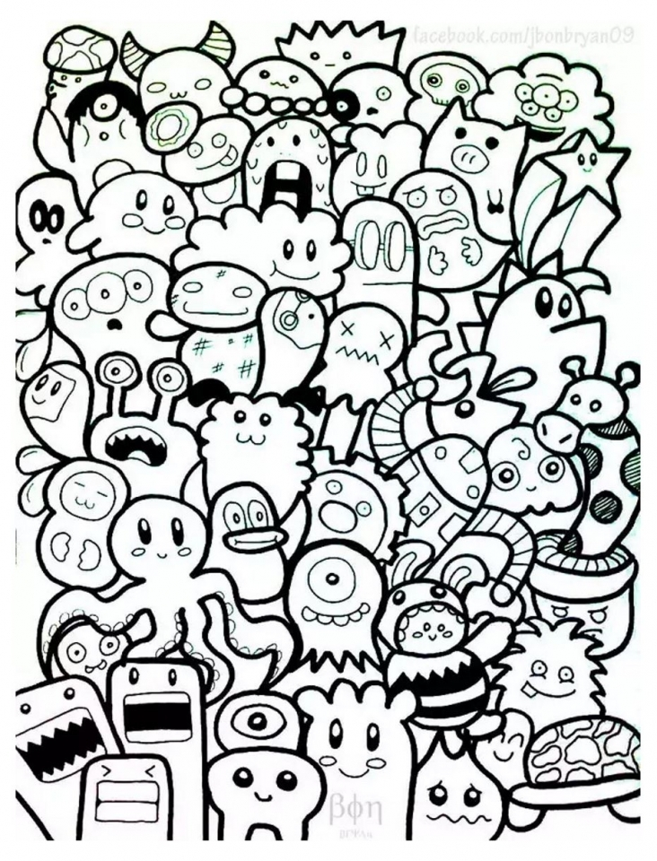 - Get This Free Doodle Art Coloring Pages For Adults GTC61 !