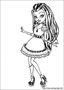 Free Monster High Coloring Pages 119163