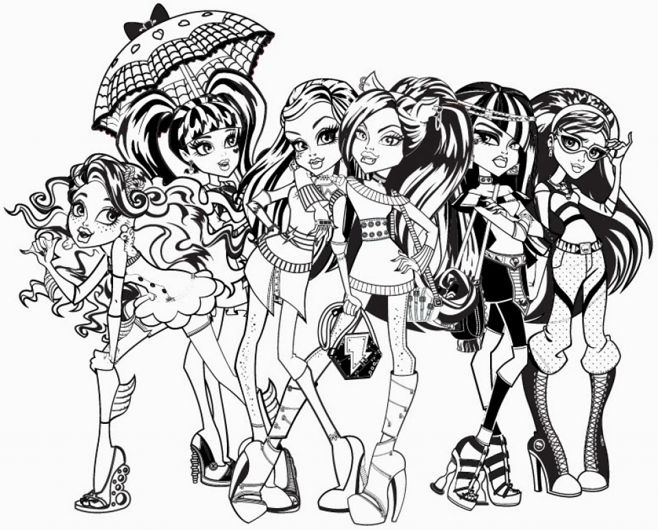 Get This Free Monster High Coloring Pages 492370 !