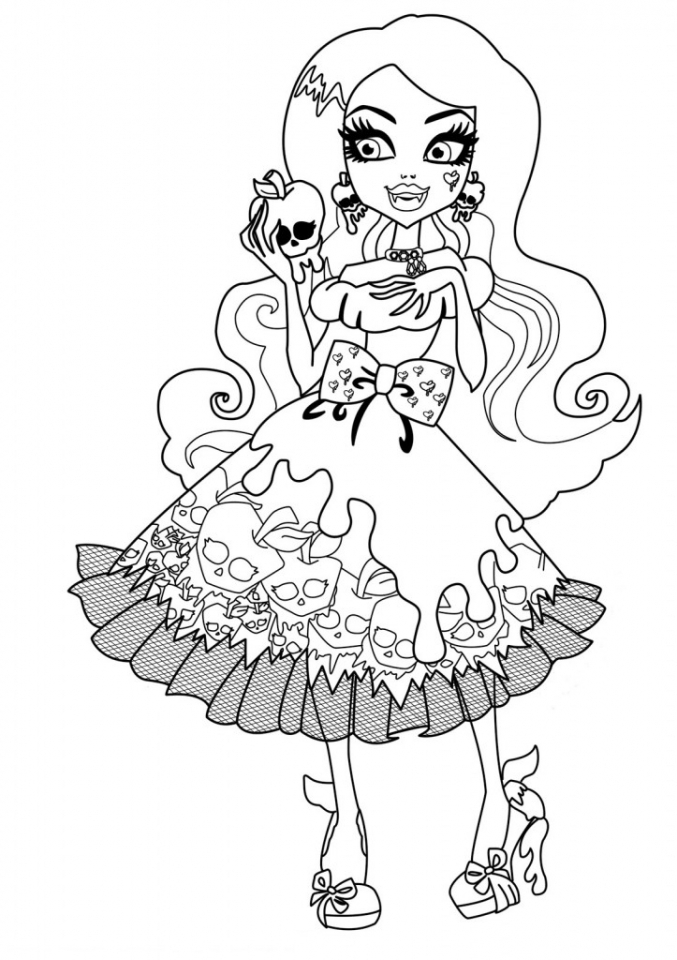 Free Monster High Coloring Pages   787921