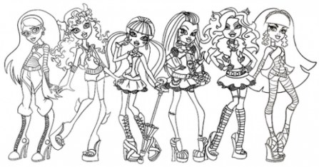 Free Monster High Coloring Pages to Print 754994