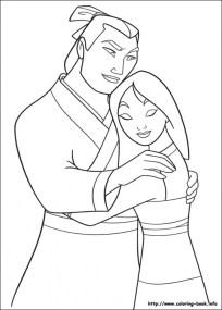 Free Mulan Coloring Pages 2srxq