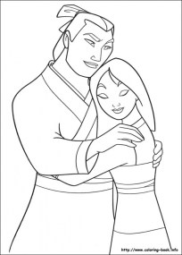 Free Mulan Coloring Pages 2srxq
