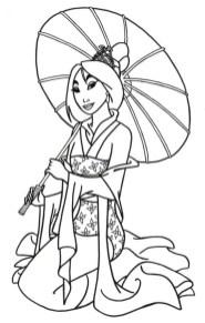 Free Mulan Coloring Pages to Print rk86j