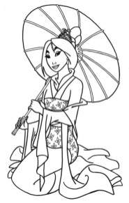Free Mulan Coloring Pages to Print rk86j