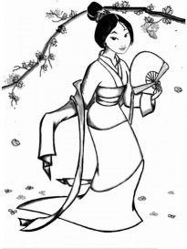 Free Mulan Coloring Pages to Print v5qom
