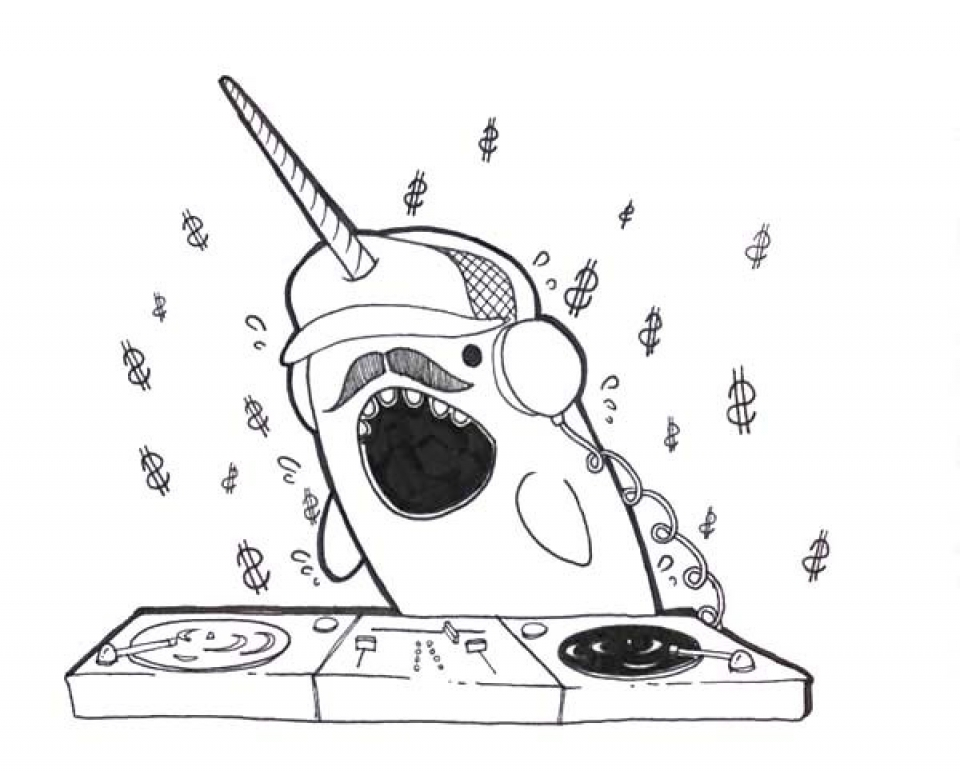 Free Narwhal Coloring Pages to Print   33958