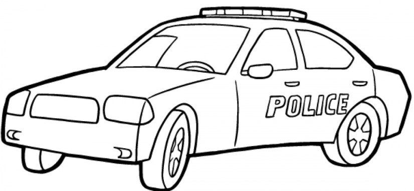 Free Police Car Coloring Pages 33958