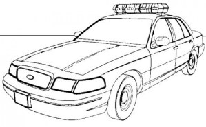 Free Police Car Coloring Pages to Print 77745
