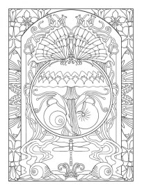 Free Printable Art Deco Patterns Coloring Pages for Adults 899854g7