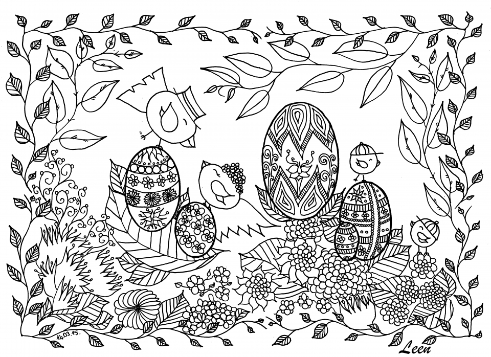 Free Printable Doodle Art Advanced Coloring Pages   61bj7