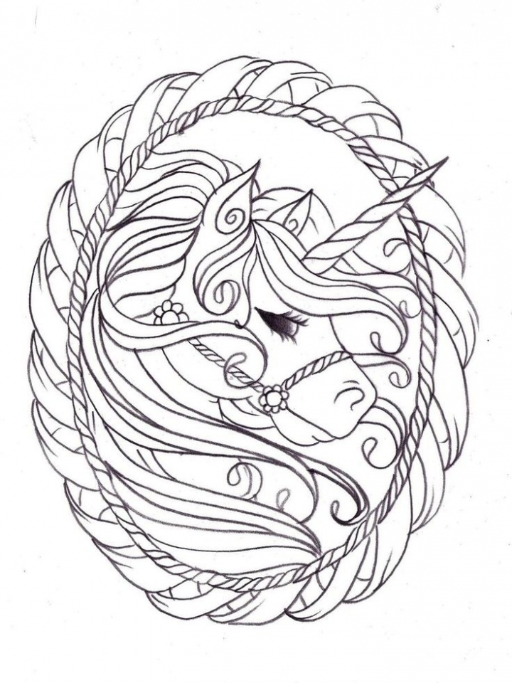 Get This Free Printable Unicorn Coloring Pages for Adults ...   free printable coloring pages for adults unicorns