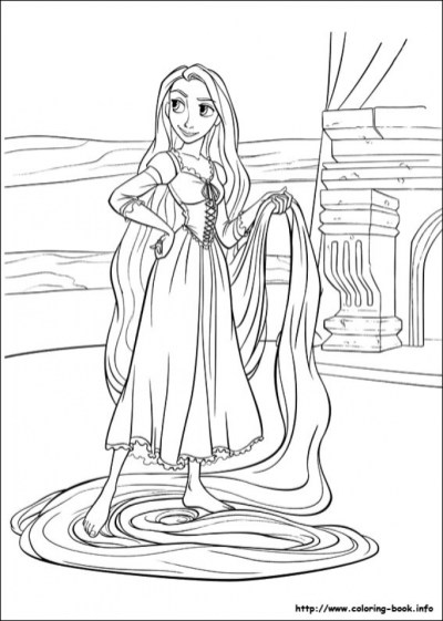 Free Rapunzel Coloring Pages to Print 9UWMI