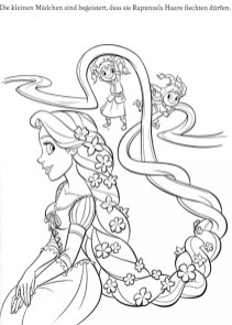 Free Rapunzel Coloring Pages to Print Disney Princess 12B67