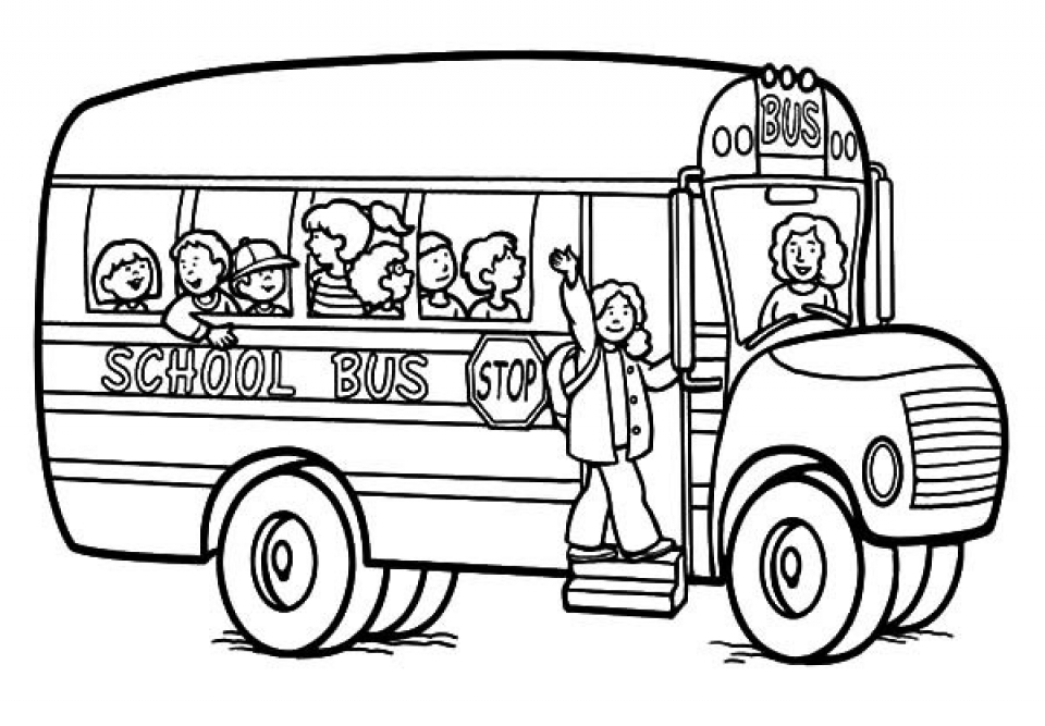 Get This Free School Bus Coloring Pages to Print rk86j