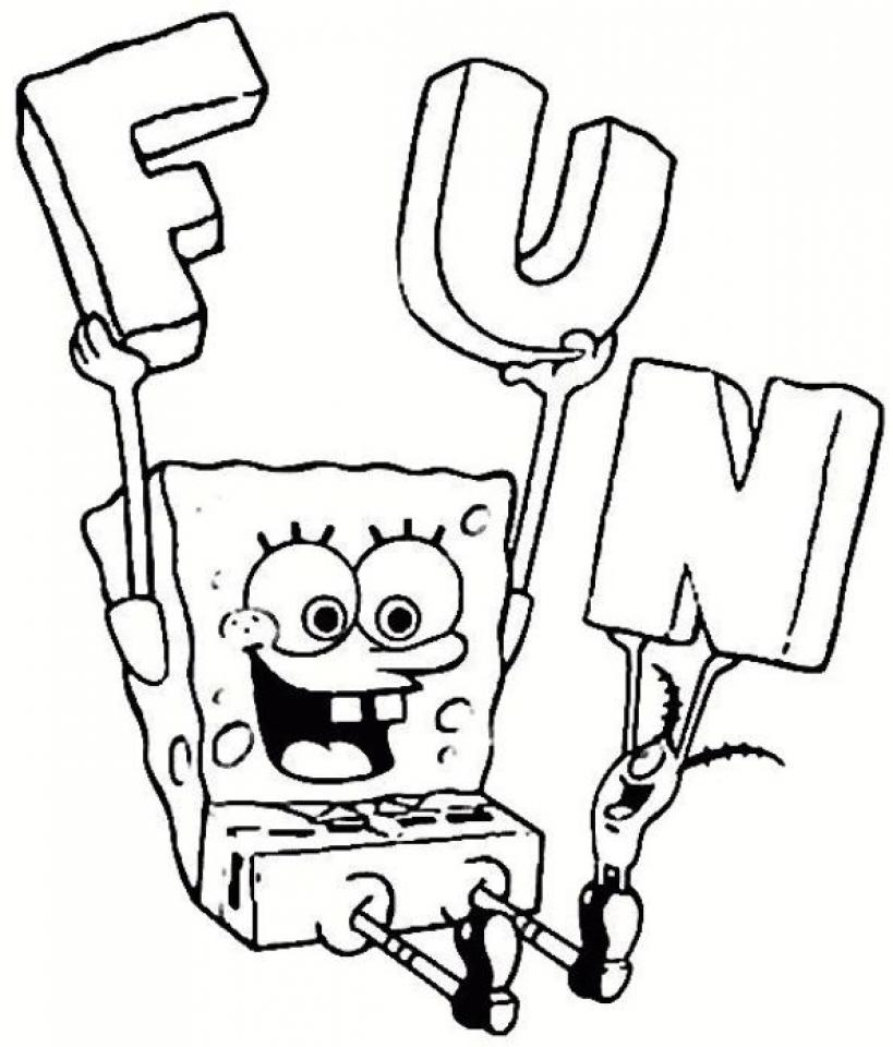 Free Spongebob Squarepants Coloring Pages   9tf1q