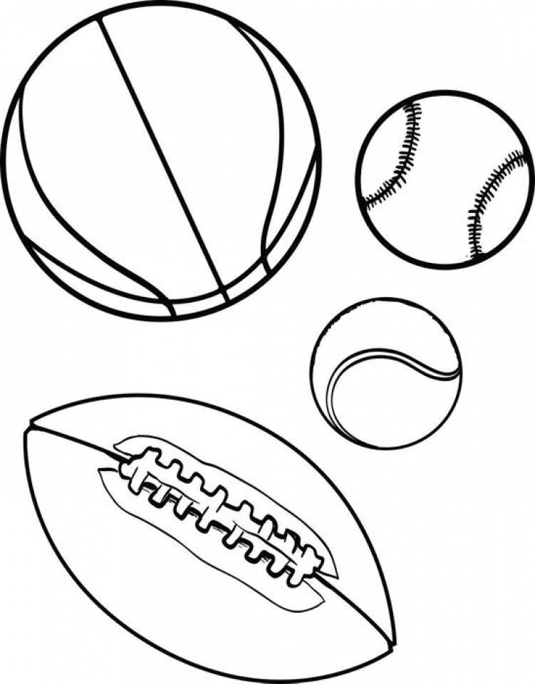 Get This Free Sports Coloring Pages to Print HFGYX