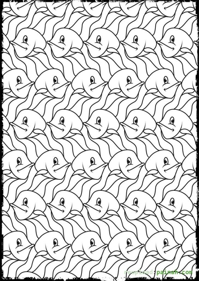 Free Tessellation Coloring Pages for Adults   WBVV6