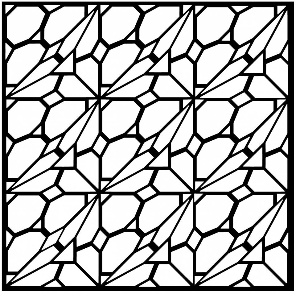 Get This Free Tessellation Coloring Pages for Grown Ups