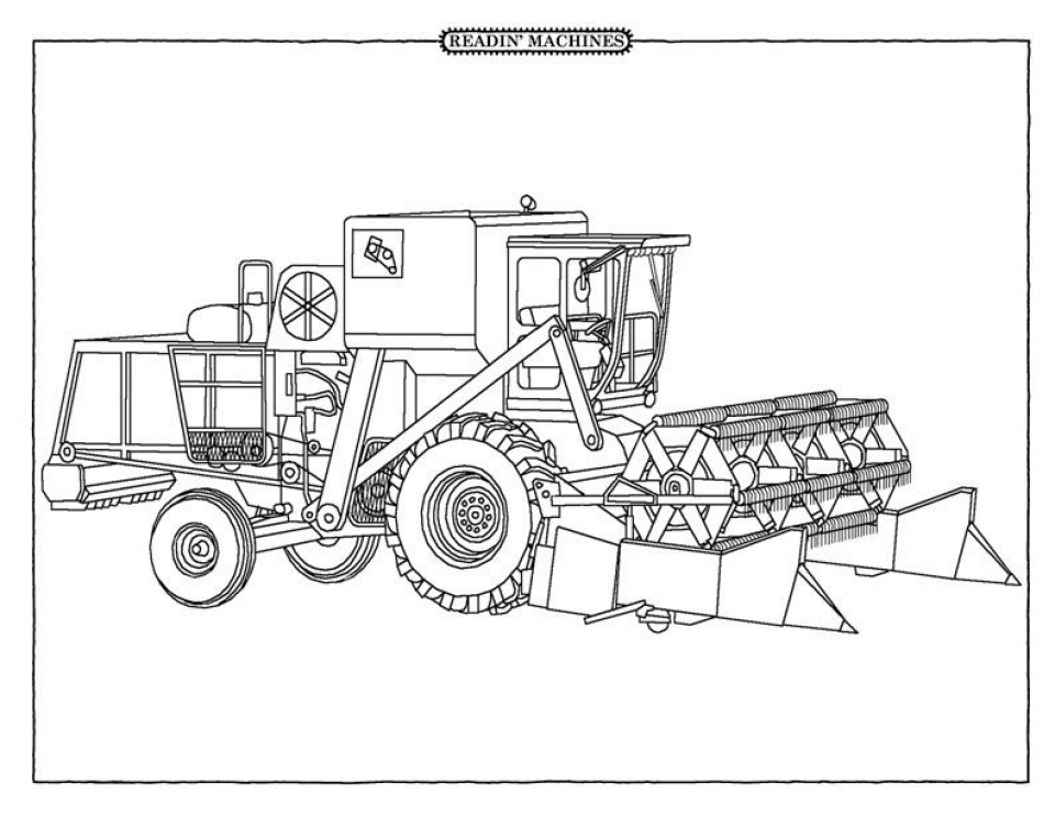 Get This Free Tractor Coloring Pages To Print 62617 !