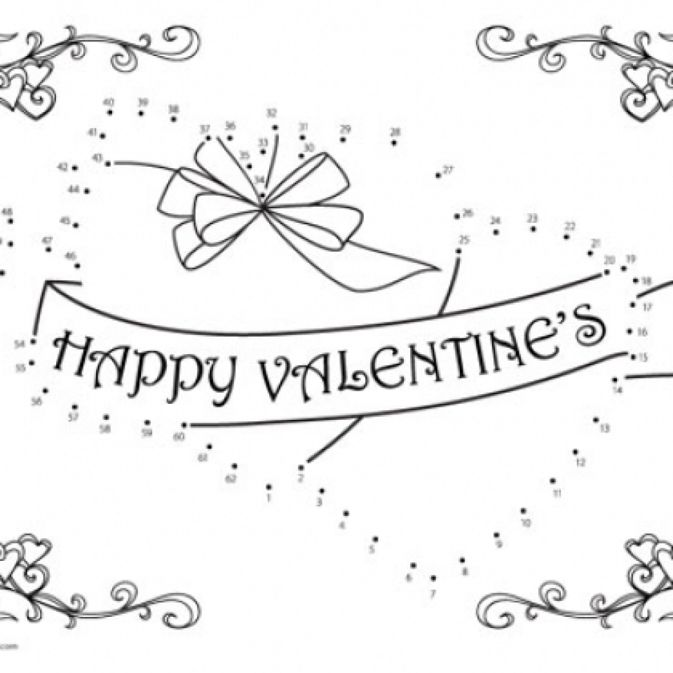 20+ Free Printable Valentine Dot to Dot Coloring Pages