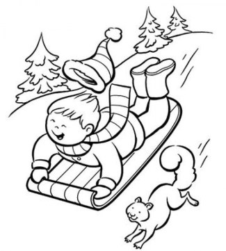 Free Winter Coloring Pages 119154