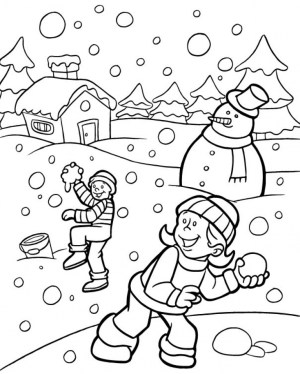 Free Winter Coloring Pages 467390